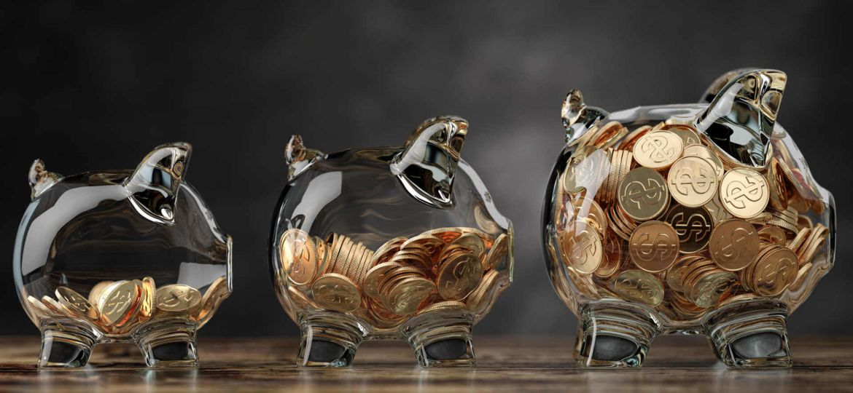 savings-bank-account-goals-glass-piggy-jars